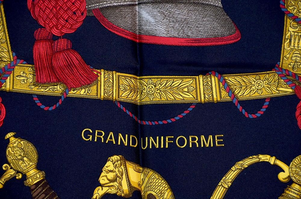 "Hermes ""Grand Uniforme"" Silk Scarf 2"
