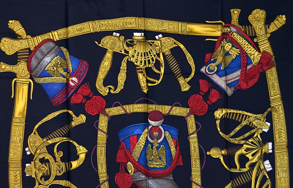 "Hermes ""Grand Uniforme"" Silk Scarf 5"