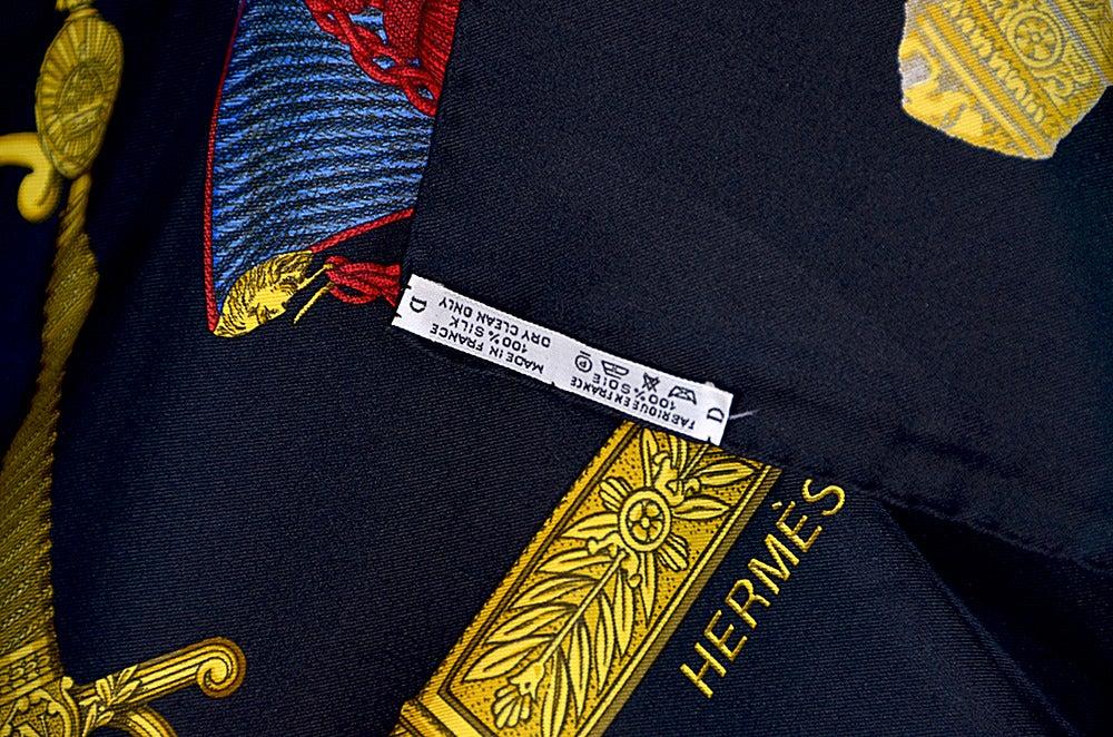 "Hermes ""Grand Uniforme"" Silk Scarf 6"