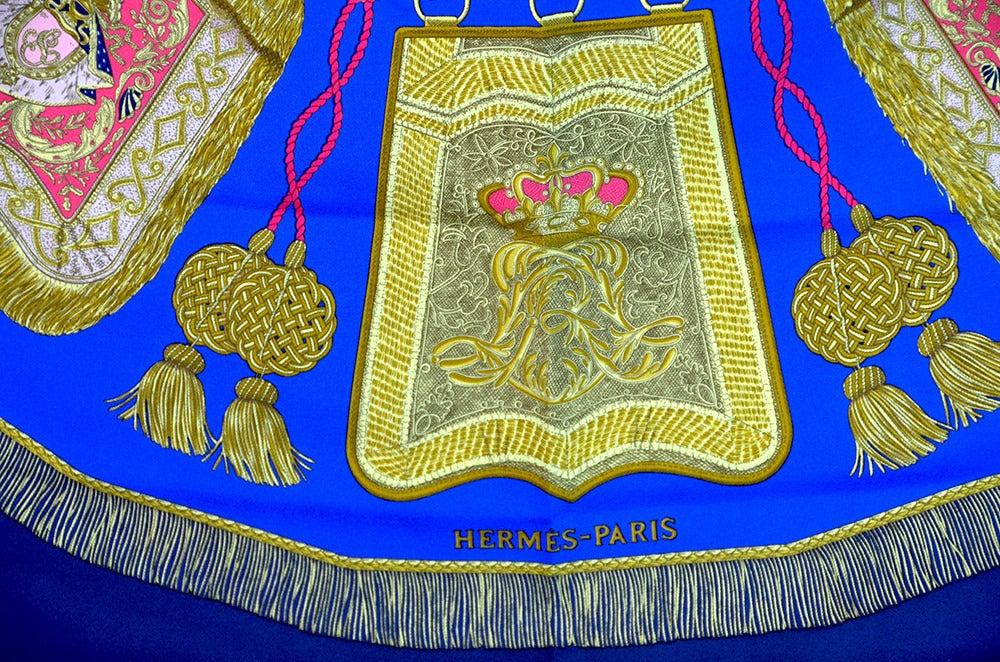 "Hermes ""Poste et Cavalerie"" Silk Scarf In Excellent Condition For Sale In Teaneck, NJ"