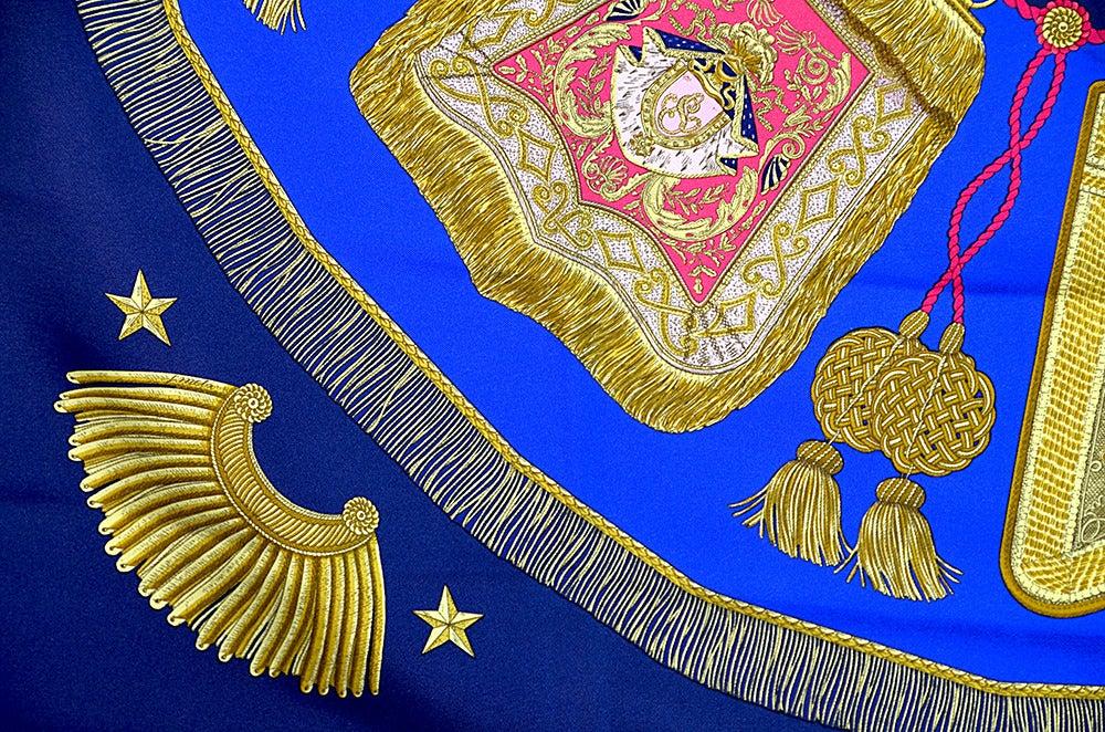 "Hermes ""Poste et Cavalerie"" Silk Scarf For Sale 1"