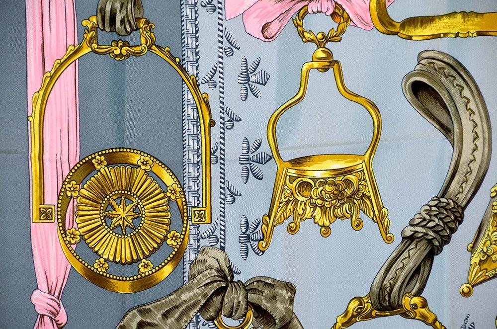 "Lovely Hermes ""Etriers"" Silk Scarf image 5"