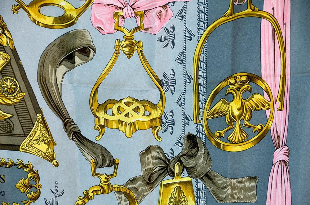 "Lovely Hermes ""Etriers"" Silk Scarf image 7"