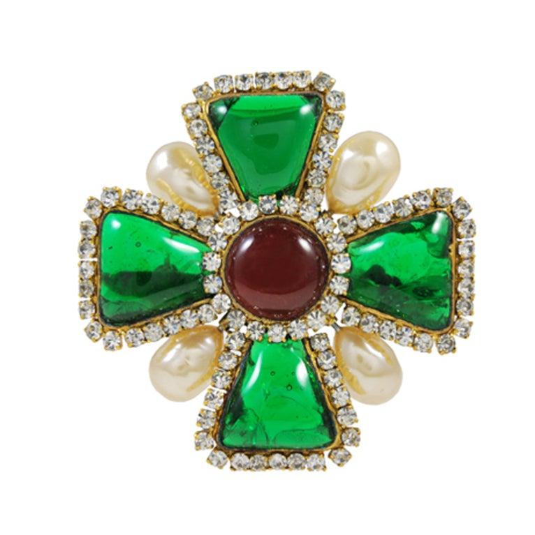 Fabulous Vintage Chanel Gripoix Brooch/Pin 1