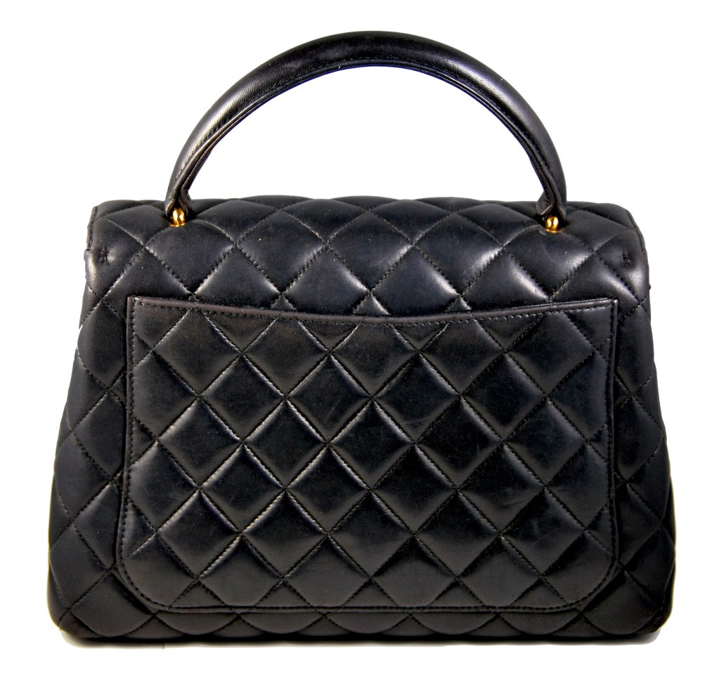CHANEL Black Kelly Style Quilted Handbag at 1stdibs