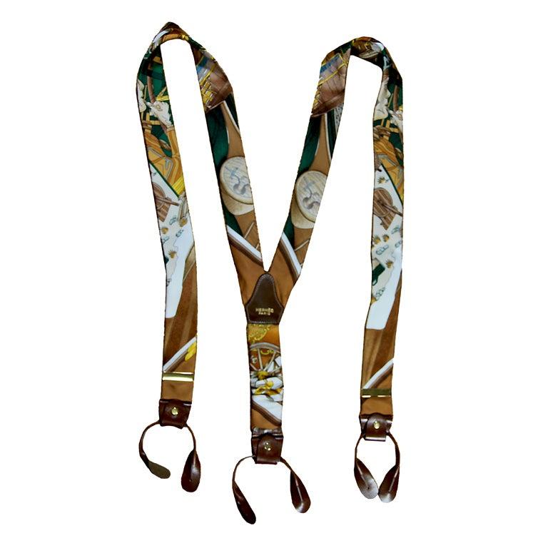 HERMES Vintage Suspenders For Sale