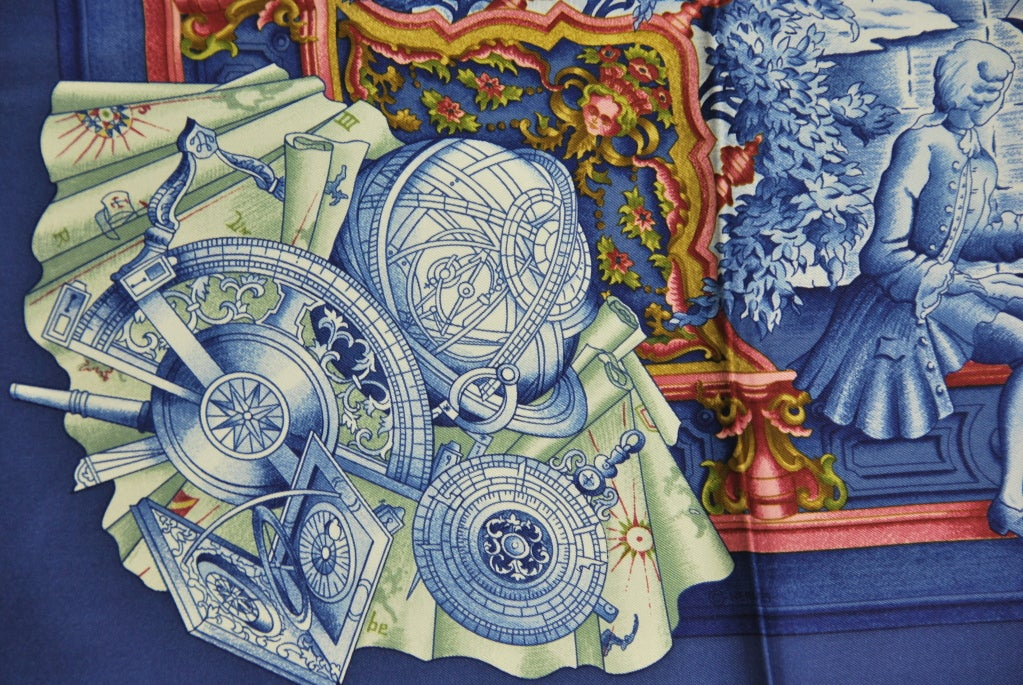 Hermes Quot Azulejos Quot Silk Scarf At 1stdibs