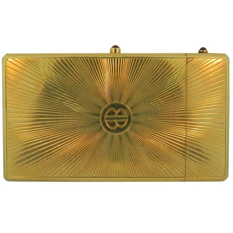 Edwardian Cartier Paris Ruby Gold Cigarette And Match Case