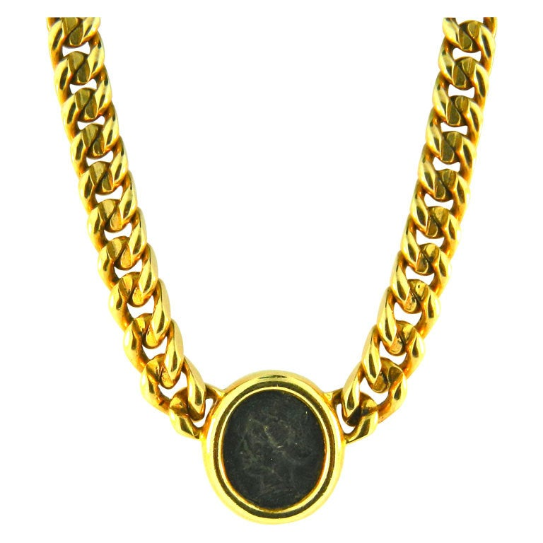 bulgari ancient coin necklace at 1stdibs