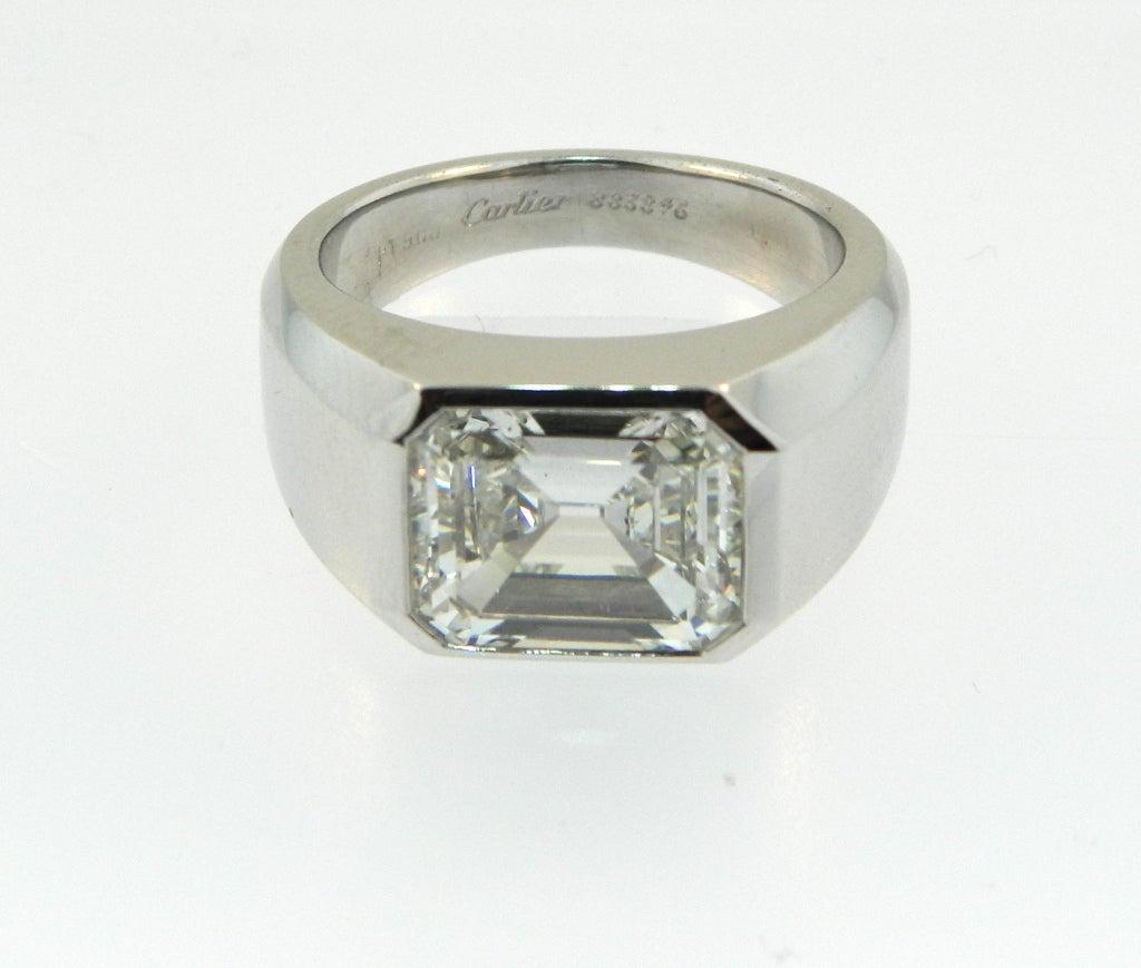 cartier emerald cut signet ring at 1stdibs