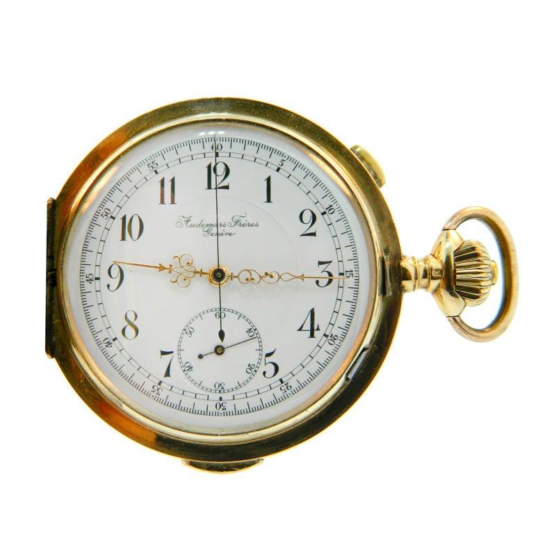 Audemars Fr 232 Res Gold Split Second Chronograph Quarter