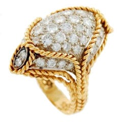 TIFFANY & Co. Yellow Gold and Diamond Ring