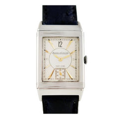 Jaeger-LeCoultre Stainless Steel Reverso Wristwatch circa 1940s