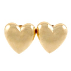SEAMAN SCHEPPS Gold Heart Earrings