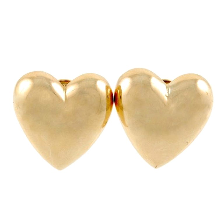 SEAMAN SCHEPPS Gold Heart Earrings 1