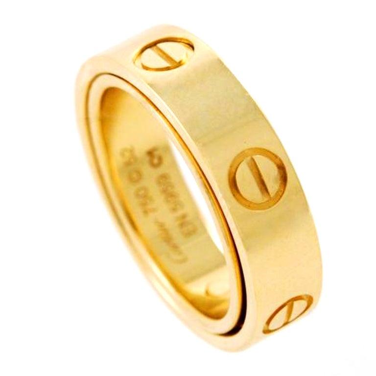 cartier gold ring at 1stdibs