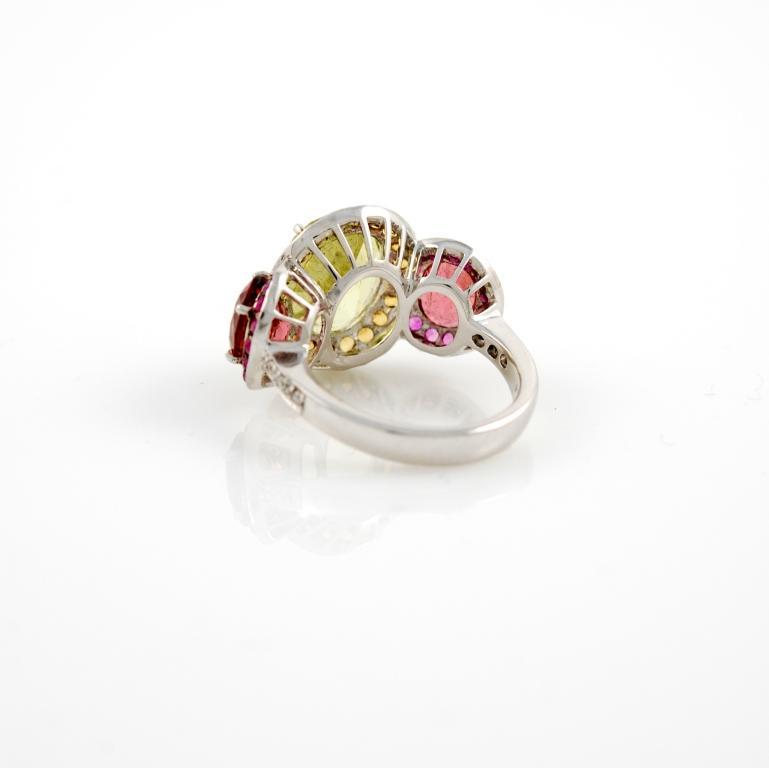white gold citrine and ring at 1stdibs
