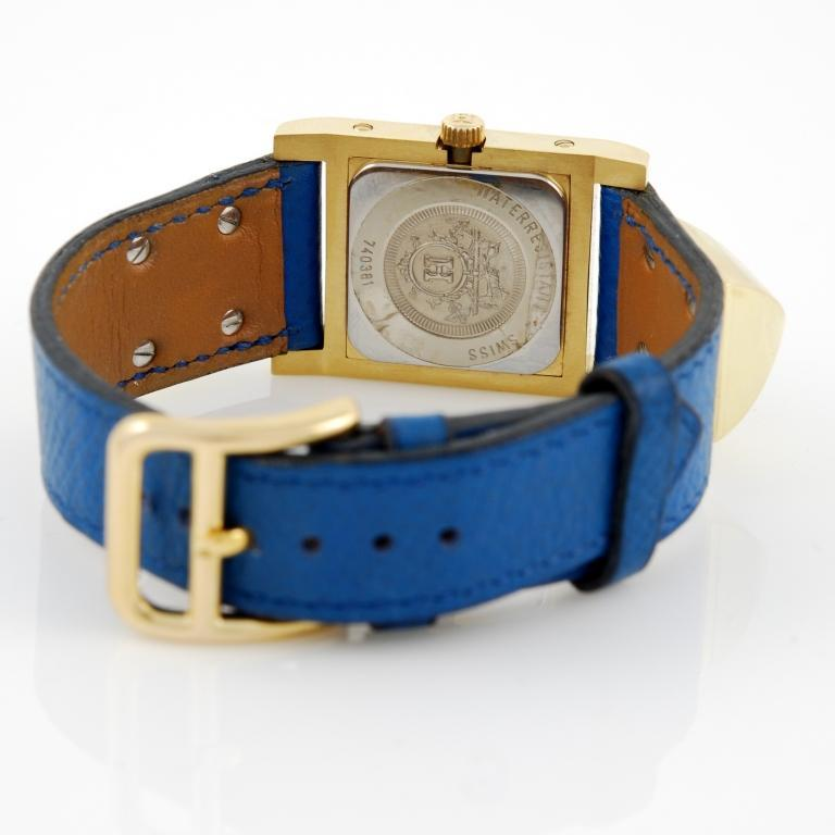Hermes Gilt Medor Wristwatch with Concealed Dial image 2