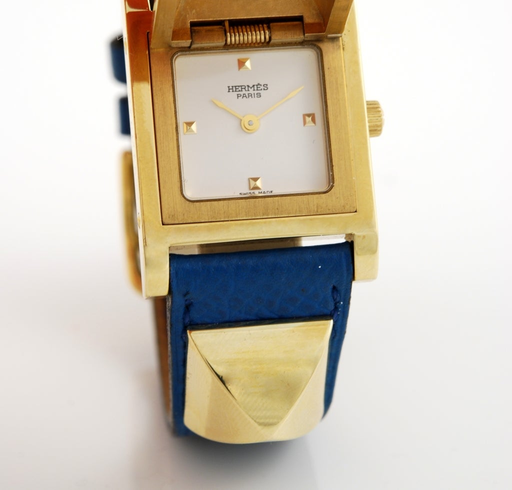 Hermes Gilt Medor Wristwatch with Concealed Dial image 6