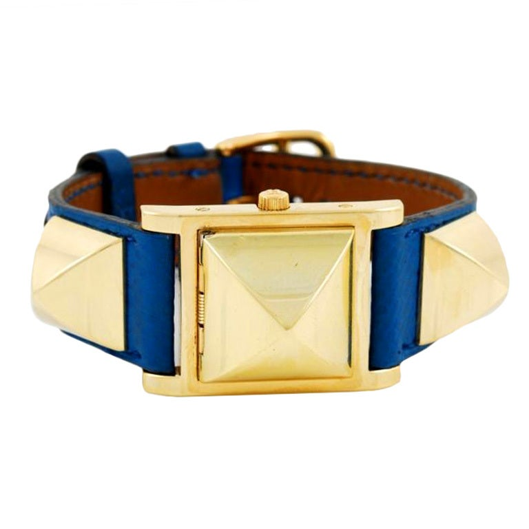 Hermes Gilt Medor Wristwatch with Concealed Dial