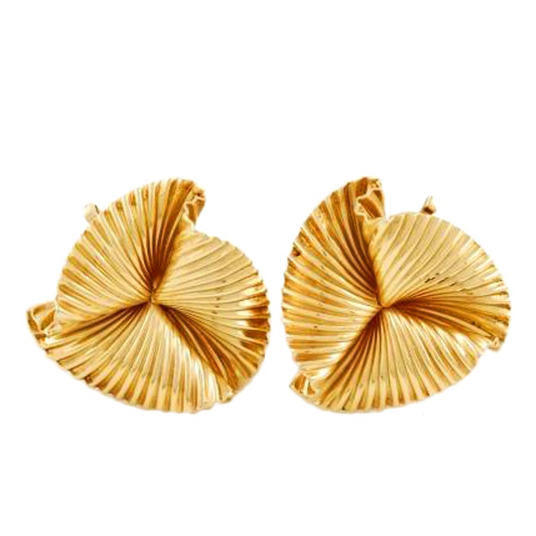 Tiffany & Co. Yellow Gold Clip-on Earrings 1