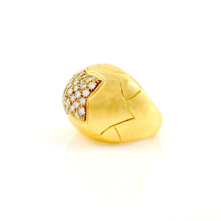 bulgari gold and diamond pyramid ring 2