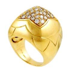BULGARI Gold and Diamond Pyramid Ring