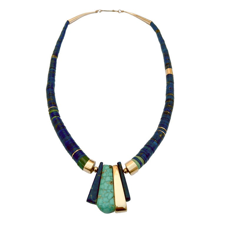 charles loloma jewelry charles loloma necklace with museum provenance at 1stdibs 7723