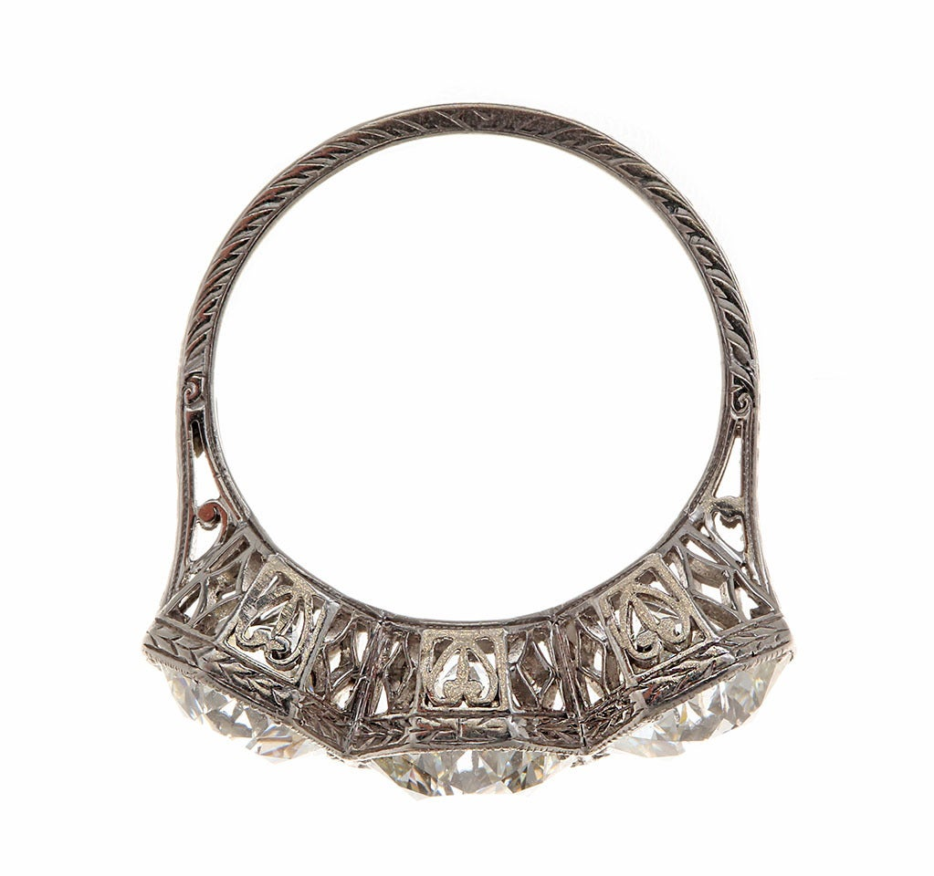 Edwardian Three Diamond Ring image 3