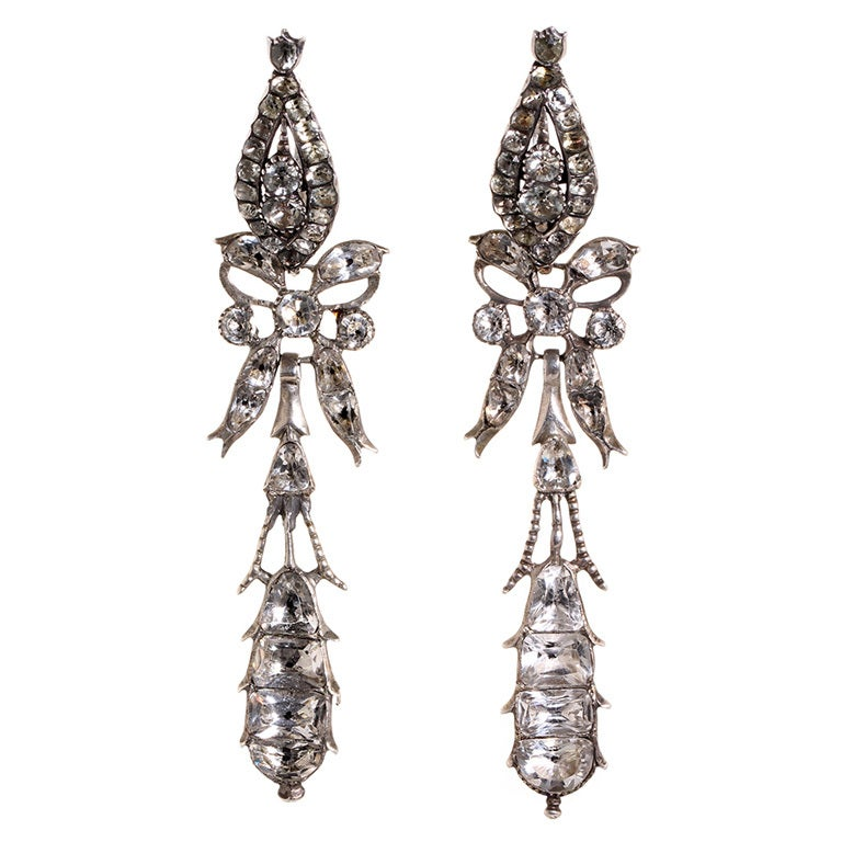 Late 18th Century Portuguese Pendeloque Earrings At 1stdibs