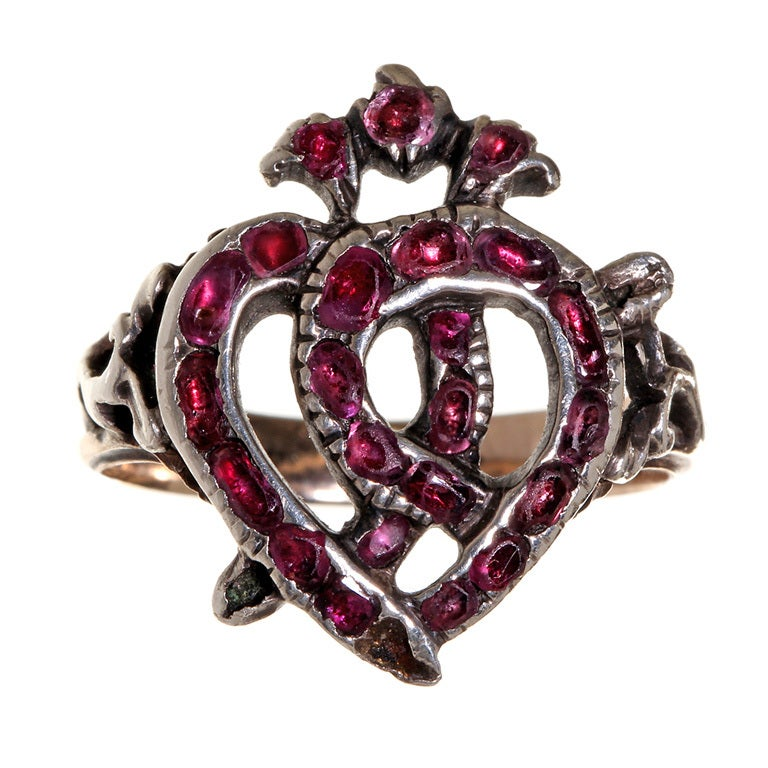 18th Century Luckenbooth Ring At 1stdibs
