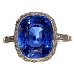 French Belle Epoque Natural Sapphire And Diamond Ring