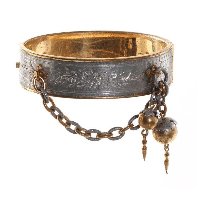 Victorian Era Aluminium Bangle Bracelet At 1stdibs