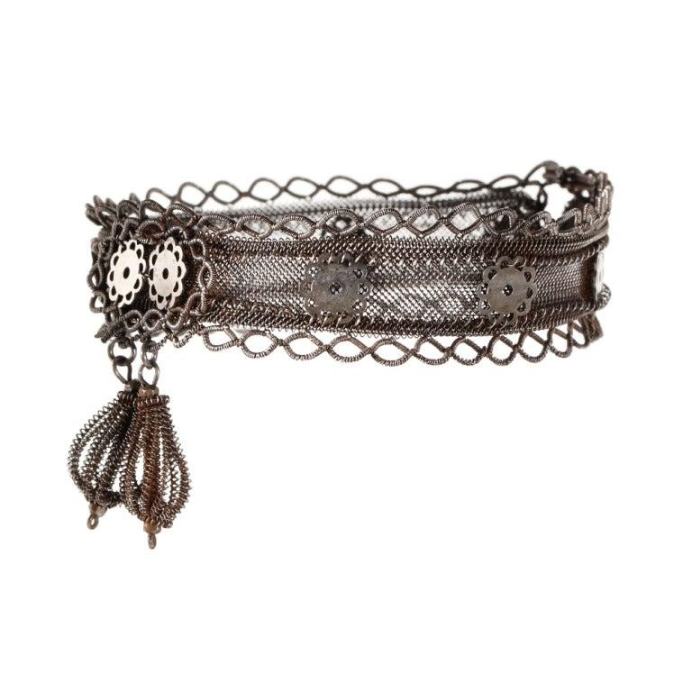 Rare Silesian Iron Wire Work Bracelet 2