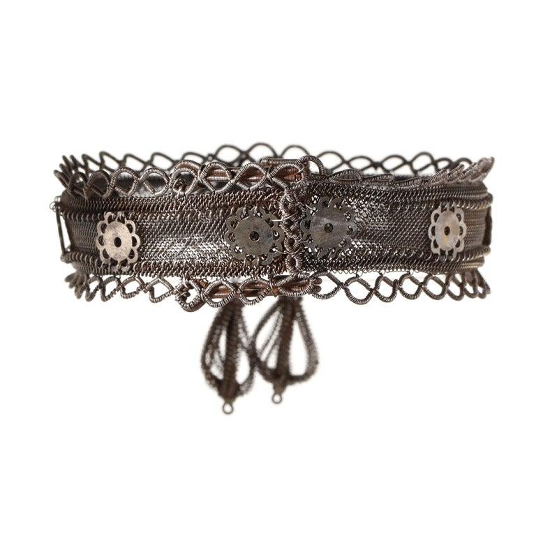 Rare Silesian Iron Wire Work Bracelet 3