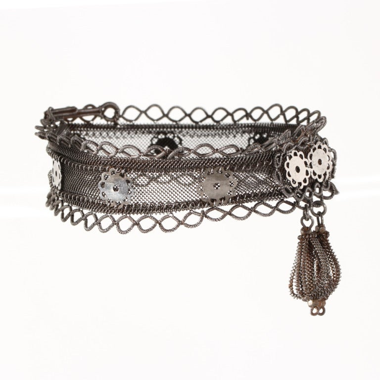 Rare Silesian Iron Wire Work Bracelet 4