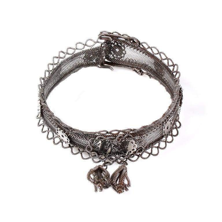 Rare Silesian Iron Wire Work Bracelet 5