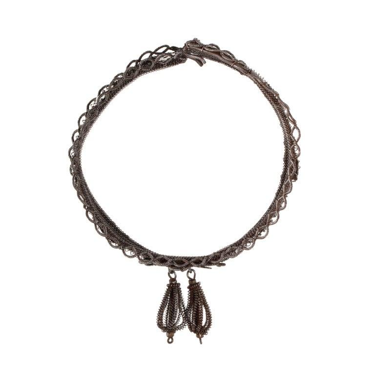 Rare Silesian Iron Wire Work Bracelet 6