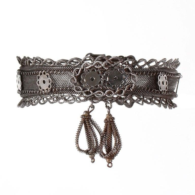 Rare Silesian Iron Wire Work Bracelet 1