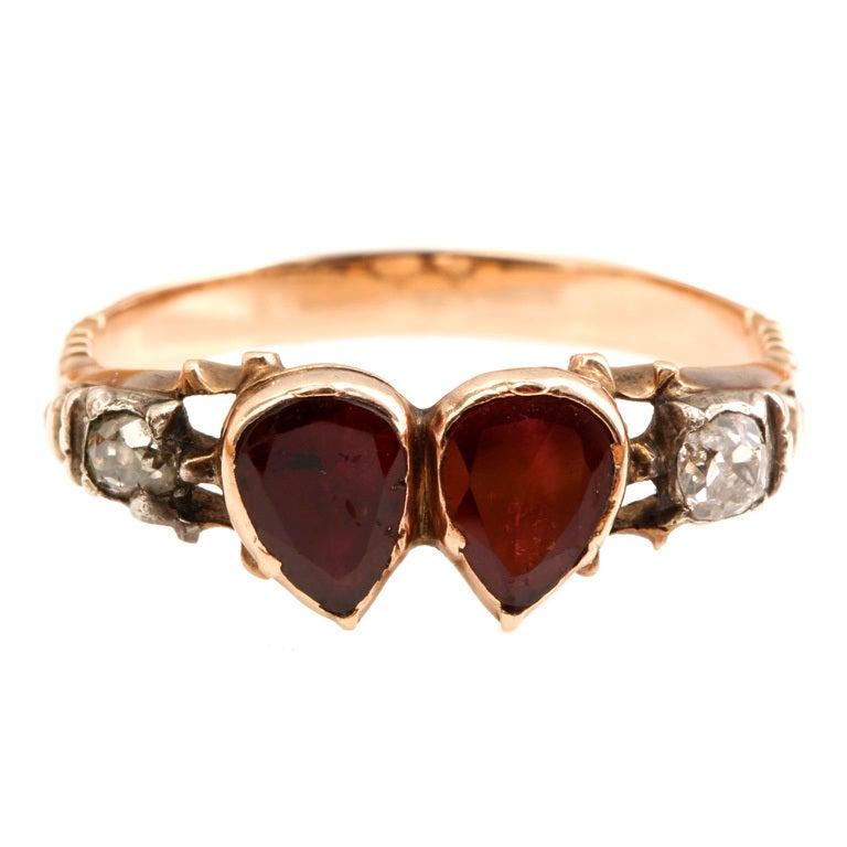 antique garnet ring at 1stdibs