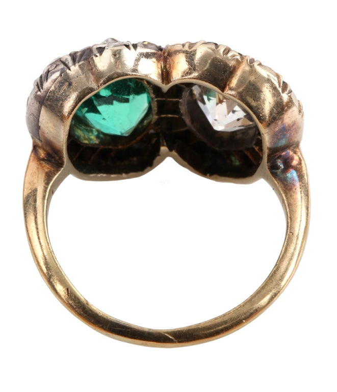 Victorian Twin Heart Ring In Good Condition In Austin, TX