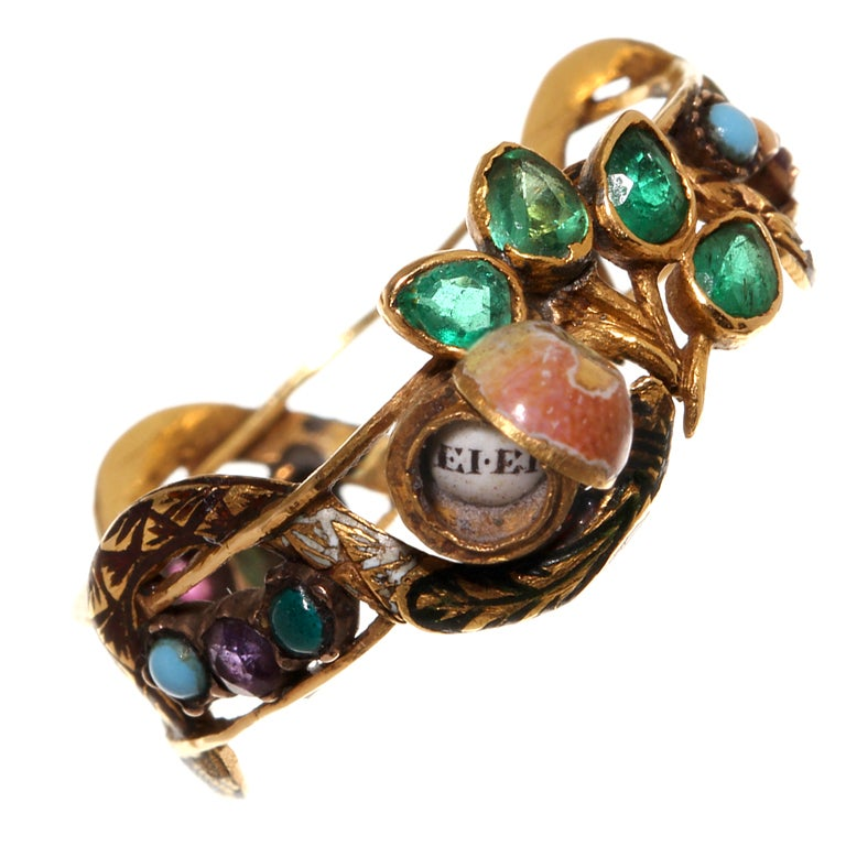 garden of eden serpent ring at 1stdibs