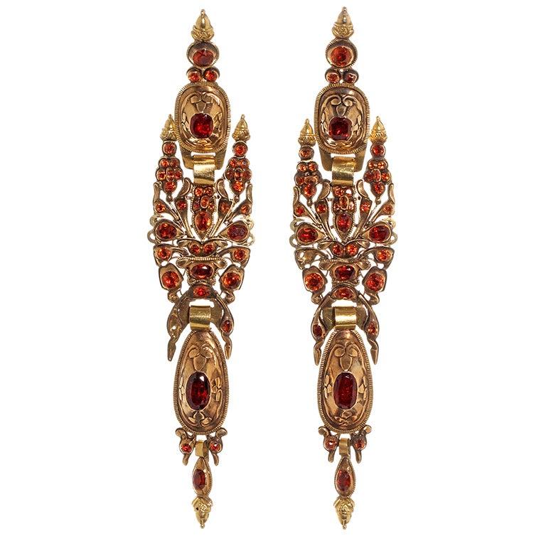 iberian hessonite garnet earrings at 1stdibs