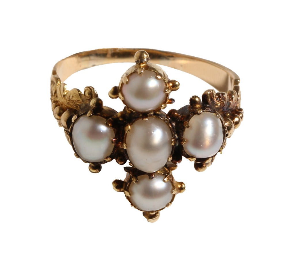 Early 19th Century Georgian Pearl Ring At 1stdibs