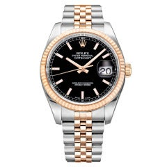 Rolex Stainless Steel and Rose Gold Datejust Wristwatch Ref 116231