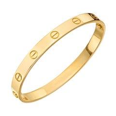 "CARTIER Gold ""Love"" Bangle Bracelet"