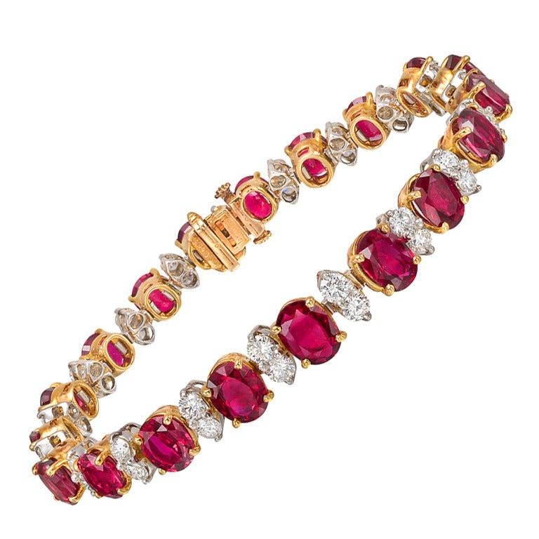 oscar heyman ruby and bracelet at 1stdibs