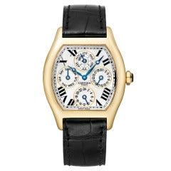 Cartier Yellow Gold Tortue Perpetual Calendar Wristwatch