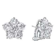 Betteridge Extra Large Diamond Flower Cluster Earclips