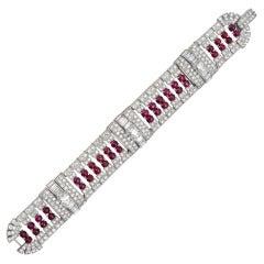 J.E. Caldwell Ruby Diamond Bracelet